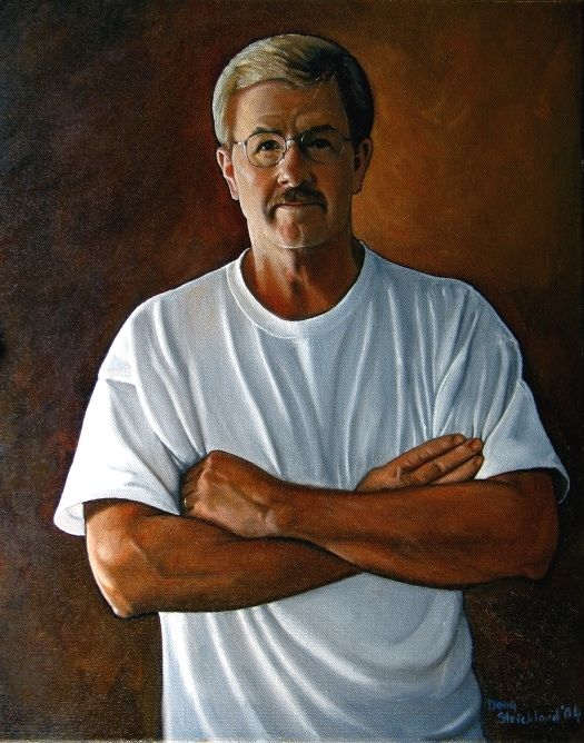 """Self Portrait in White Teeshirt"" completed 2004"